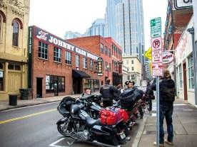 Nashville Downtown am Morgen. Nach dem Besuch des Johnny Cash Museums ging's dann schnurstracks nach Memphis