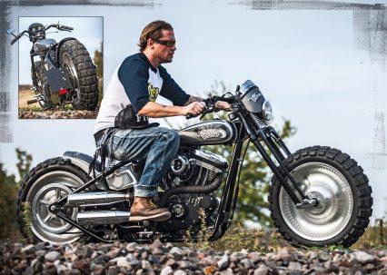 Dicke Socke: Das originale Hinterrad der H-D Deuce gefiel dem Erbauer so gut, dass er es gleich auch als Vorderrad benutzte