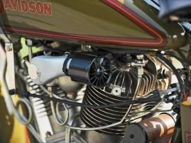 Der Motor mit zwei Nockenwellen stammte aus der Rennabteilung