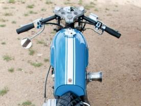 Die aus unserer europäischen Sicht recht seltsame Farbe dieses Bikes erklärt sich aus der amerikanischen Sport- wagen-Historie