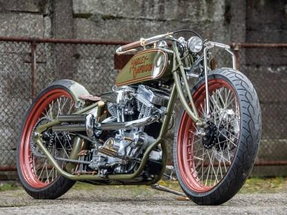 """Die Gabel im """"Leafer-Style"""" steht der Harley-Davidson ausgezeichnet"""