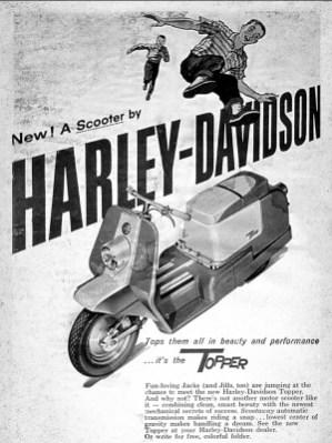 Gut. Top. Topper! Anfang der sechziger Jahre versuchte Harley, auf dem Rollermarkt Fuß zu fassen. Der Topper war flink, nur schick war er nicht