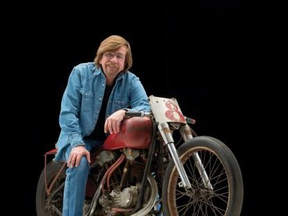 Nach fast 60 Jahren stand die Tramp das erste Mal wieder auf einer Bikeshow. Besitzer Gary Wattis hatte entschieden, das Kulturgut einem breiten Publikum öffentlich zu machen