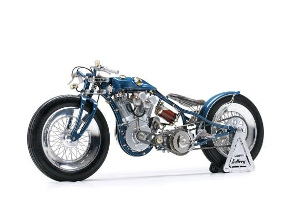 """Der Motor ist ein Harley-Davidson IOE-Motor aus einem """"J""""-Modell des Baujahrs 1920"""