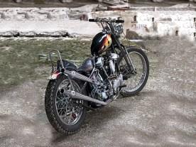 Der Rahmen ist ein originaler, später Harley-Davidson Straightleg