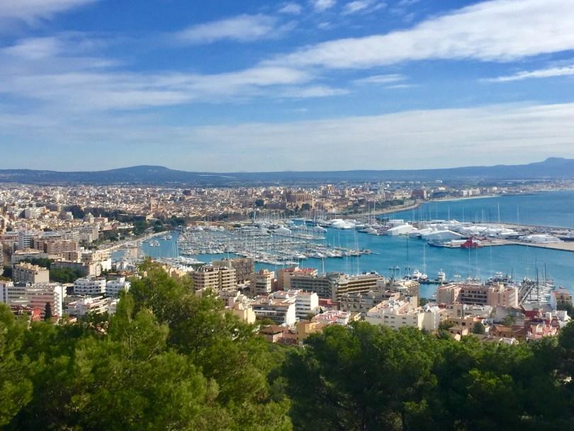 Palma de Mallorca Hafen Aussicht Castel de Bellver