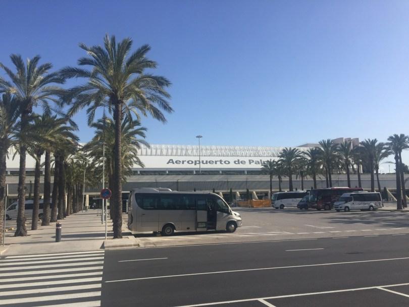 Der Flughafen Son San Joan in Palma auf der Mittelmeerinsel Mallorca