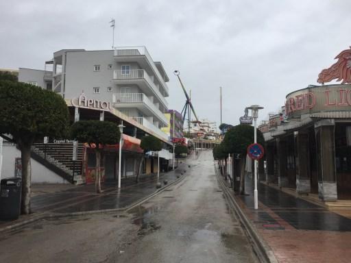 Leere Straße in Magaluf
