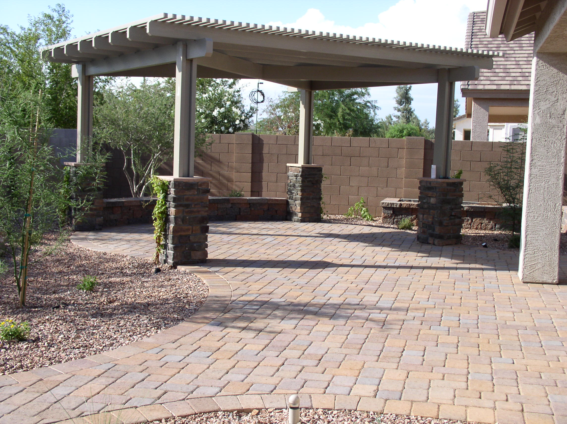Paver Designs and Paver Ideas for Your Backyard Patios on Yard Paver Ideas  id=97988