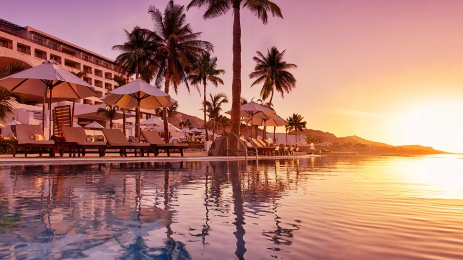 Marquis Los Cabos Resort & Spa in Mexico. One of the world's best infinity pools and sunset spots.