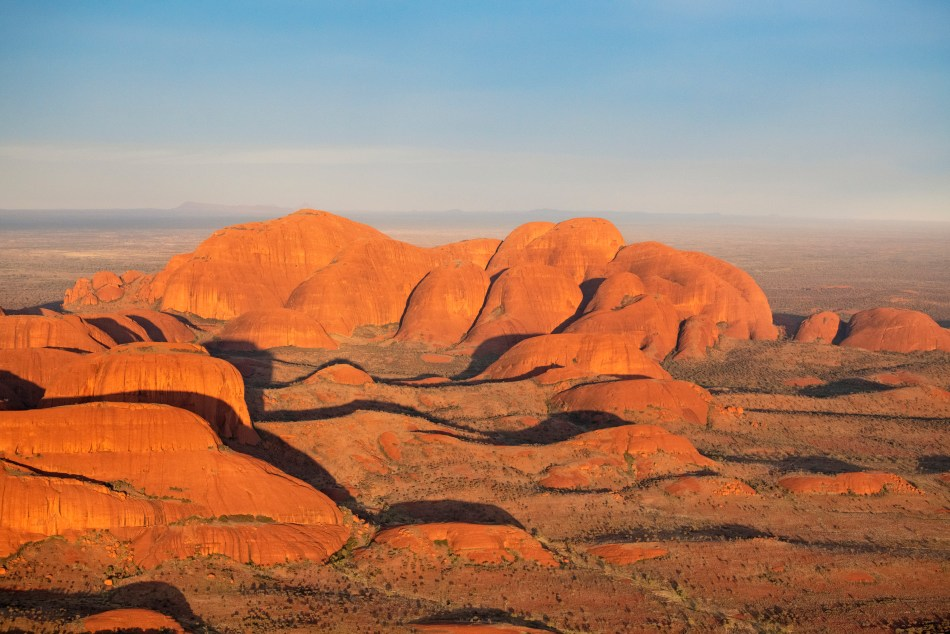 View of Kata Tjuta from a scenic helicopter flight