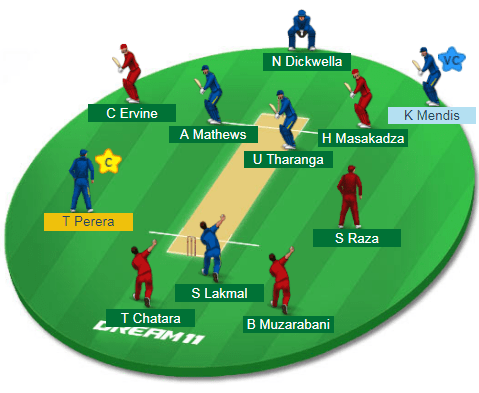 ZIM vs SL, 2nd ODI Match Dream11 Team