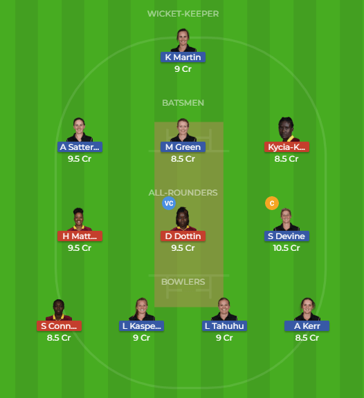 Dream11 Team for NZ-W vs WI-W 4th T20 Match