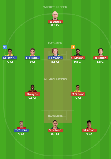 SDS vs MLS Dream11 Team for the 10th Match