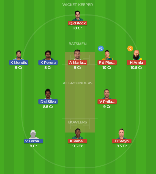 SL vs SA Dream11 Team, Playing11 and Team News