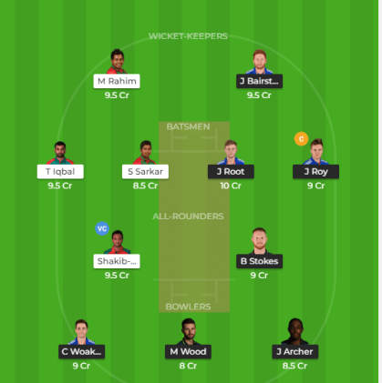 ENG vs BAN Dream11 Team and Match Prediction
