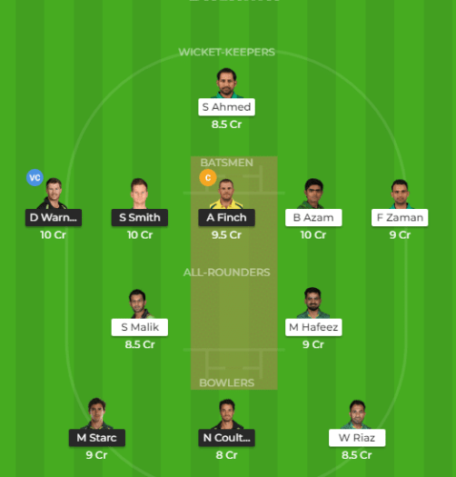 AUS vs PAK Dream11 Fantasy Cricket Prediction