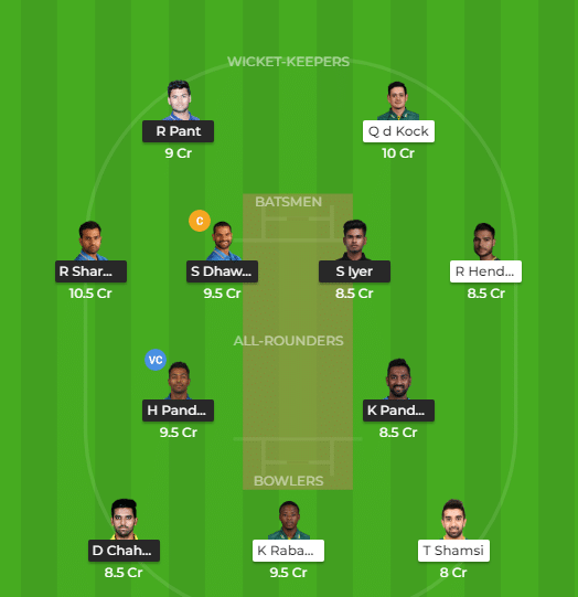 IND vs SA Dream11 Team, Probable XI and Team News