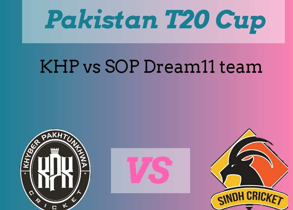 KHP vs SIN Dream11 team, Pakistan National T20 cup, Khyber Pakhtunkhwa vs Sindh Dream11 team, probable playing XI, and fantasy player pick up
