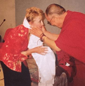 Mary Morrissey with the Dalai Lama