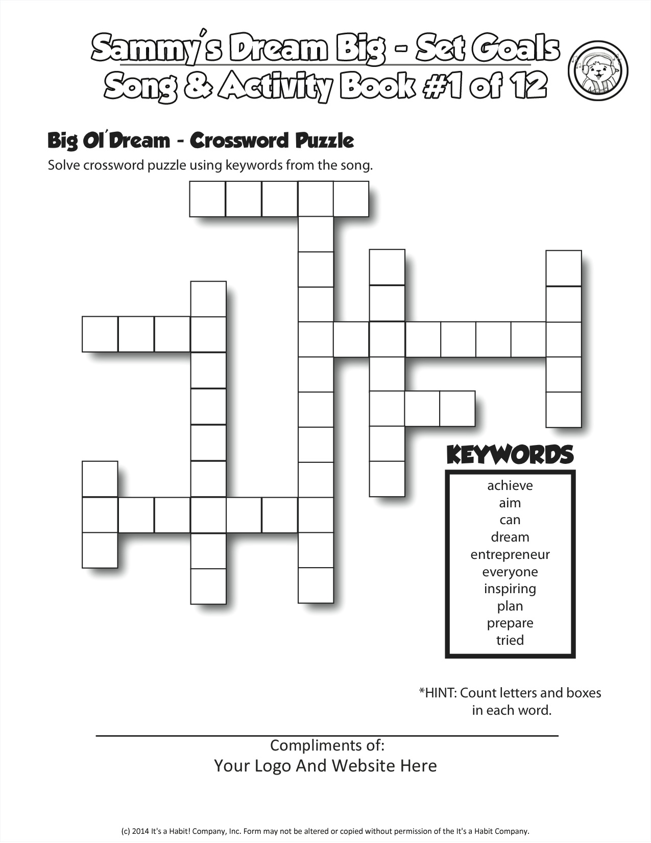 Big Ol Dream Clueless Crossword Puzzle Dream Big Day