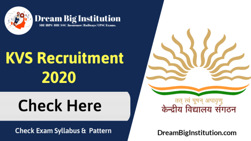 KVS Recruitment 2020