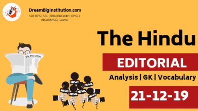 The Hindu Editorial Vocabulary For All Competitive Exam 21 December 2019