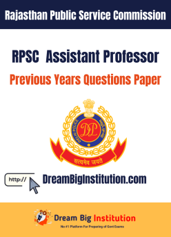 RPSC Assistant Professor Previous Questions Papers PDF