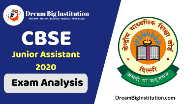 CBSE Junior Assistant Exam Analysis 2020