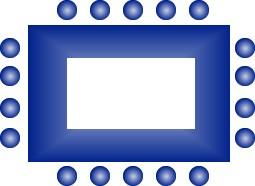 rectangular seating arrangement