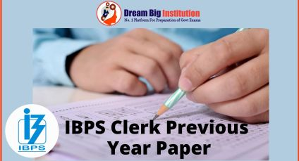 IBPS Clerk Previous Year Paper