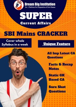 Current Affairs for SBI Clerk Mains 2020