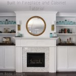 Built In Fireplace And Cabinets Tutorial Dream Book Design