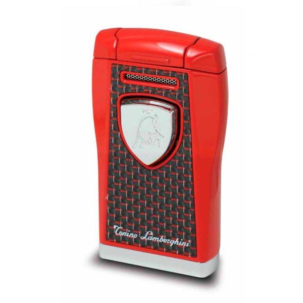 Tonino Lamborghini Argo Butane Refillable Cigar Lighter - Red Carbon Fiber-0