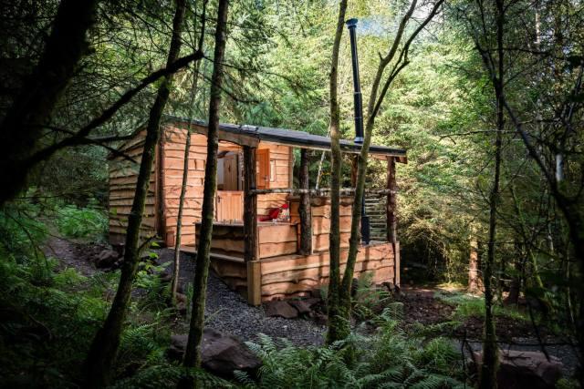 Dreamcatcher Cabins, Gartmore. Badger's Sett.