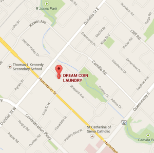 DREAM Coin Laundry location map