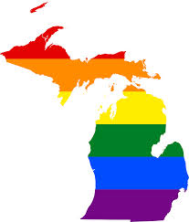 rainbow weddings MI state map,elope in Michigan, get hitched quick, How do you get a Michigan Marriage License? We have the answers you're looking for. Click here to learn how and where to get your Michigan Marriage License. map of michigan in pride rainbow