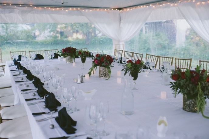 Tented backyard wedding done by saugatuck wedding planner