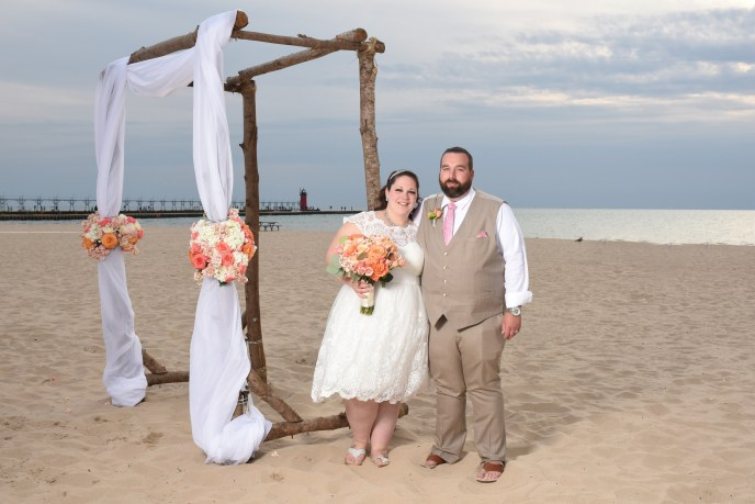 beach wedding in South Haven