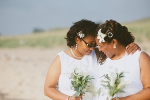 rainbow weddings or gay beach wedding, micro wedding package, lesbian beach wedding