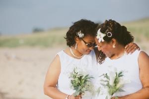 gay beach wedding, micro wedding package, lesbian beach wedding