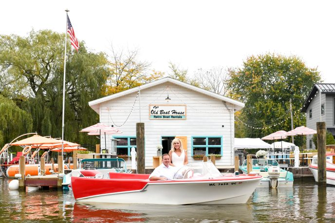 new packages with retro boats rentals in saugatuck, a cool place to elope in michigan
