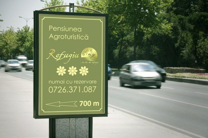 Street sign - spre Refugiu