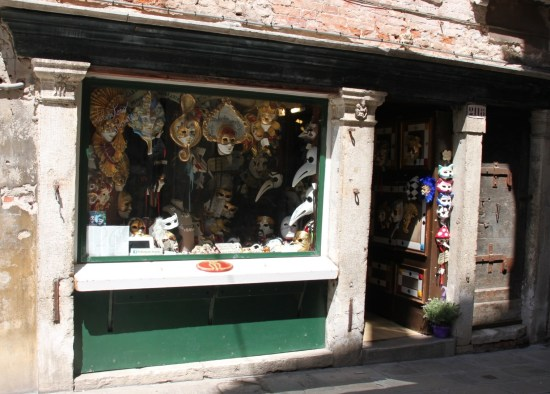 Traditional Venetian masks for sale at Peter Pan Masks, San Stae, Venice