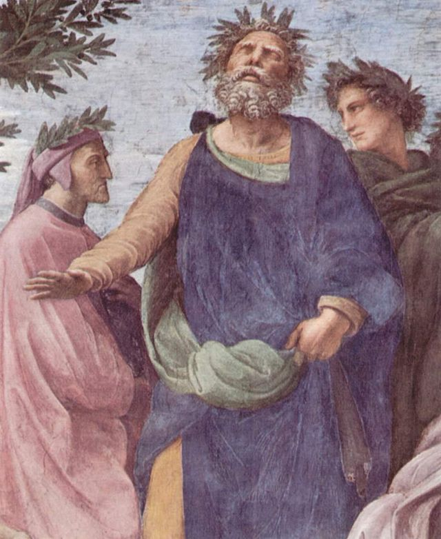 Raphael's Homer (in blue)