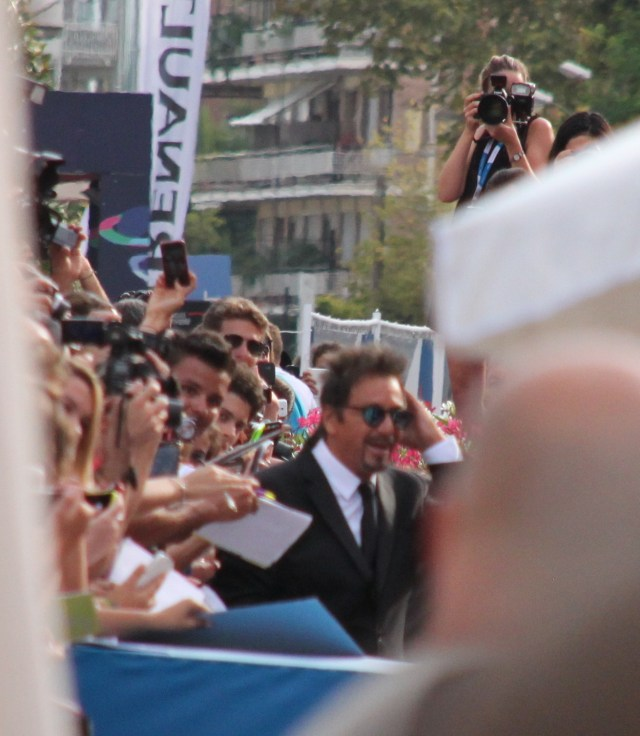Al Pacino works the red carpet crowd
