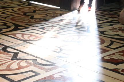 The marble floor of Milan's Duomo is a complex geometric design