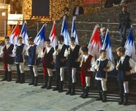 Trainee flag bearers in Umbria