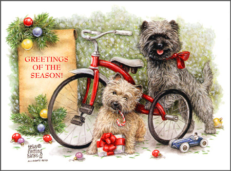 Dog Art Today Dog Breed Christmas Cards By Telia Fleming