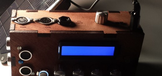 Photo of the M!lTone open-source synth and MIDI controller